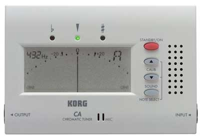 Accordeur Korg_CA40 Blanc